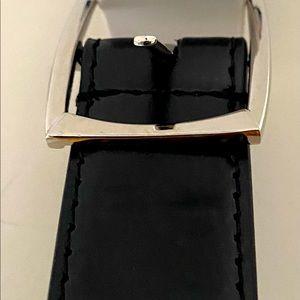 Brand new black leather belt size